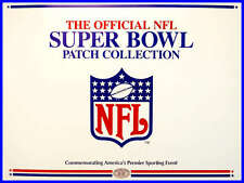 WILLABEE & WARD NFL SUPER BOWL PATCH COLLECTION Title Sheet COVER PAGE INFO CARD