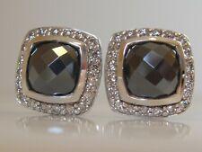 $1200 DAVID YURMAN ALBION HEMATITE DIAMOND EARRINGS