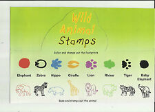 Wild Animal Stamps Animals & Footprints Bulk Buy Box of 48 stamps - see descript