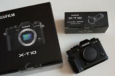 Beautiful Fujifilm X-T10 Black Body with Hand Grip MHG-X-T10 Mint In Box