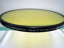 Tiffen 138mm Light Yellow 1 #6 Glass Filter for Black & White Film Filters