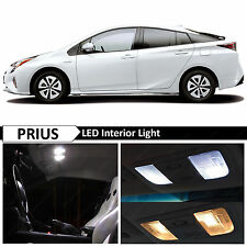 2015-2017 Toyota Prius Premium White Interior LED Lights Package Kit + TOOL