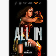 20A312 Hot Justice League Wonder Woman All In Gal New Art Poster Silk Deco