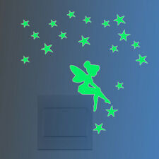 Fairy&Stars Luminous Switch Wall Sticker Cartoon Kid Bedroom Home Decor 1 Pcs KS