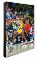 Los Angeles Lakers Kobe Bryant Michael Jordan 16x20 Photo Poster Picture framed