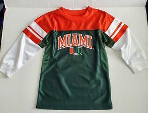Miami Hurricanes JerseyLong Sleeve Toddlers Boys Sz S B36