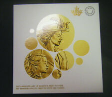 2016 Canada 100th Anniv. Women's Right to Vote Collector Coin Card Holder Folder