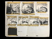 Disney Original Production Storyboards by Bill Peet from Ben and Me 1953.