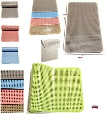 Bath Mat Extra Long Non-Slip with Suction Cups Stylish Shower Mat, Anti-Slip
