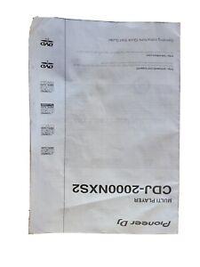 Pioneer CDJ-2000NXS2 CD Player Owners Manual