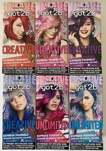 Schwarzkopf got2b Semi-Permanent Hair Color Dye- Choose Your Shade!