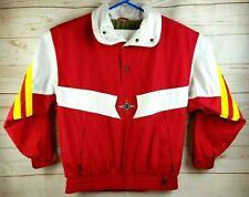 Vintage Bogner Men's Super Light High Tech Ski Jacket Size L Red White & Yellow