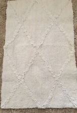 White Cotton Bathroom Mat 21 x 34ins from TkMaxx