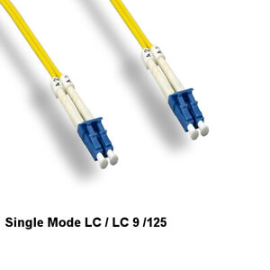 Kentek 1m LC/LC Single-Mode Fiber Optic Cable 9/125 Duplex UPC Ethernet Network