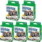 Fuji Instax Ancho Film para Fujifilm 210 200 instantáneo cámaras 5x20=100 Photos