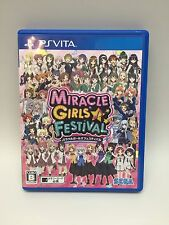 USED PS Vita MIRACLE GIRLS FESTIVAL SEGA GAMES Free Shipping Japan Import