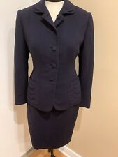 Vintage 1940's Navy Wool Suit Size Small