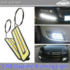 2pcs LED COB DRL Daytime Running Light Car Fog Driving Turn Lamp Waterproof 12V