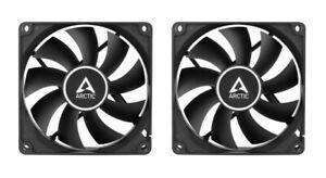 2 x Pack Arctic f8 stillen schwarz, 80mm 8cm schwarz PC Gehäuselüfter, hohe Leistung