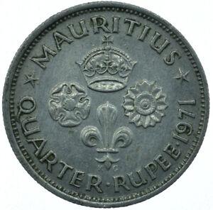 COIN / MAURITIUS BRITISH COLONIAL / 1/4 RUPEE / QUARTER RUPEE 1971   #WT27039