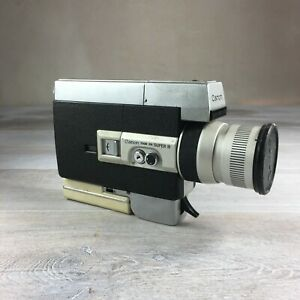 CANON ZOOM 518 SUPER 8 Movie Camera slow motion w/Case Untested As Is