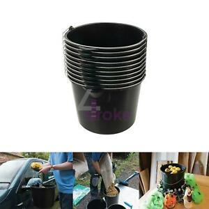 Traditional Multipurpose Plastic Buckets Large 12Ltr 10pk Water Coal