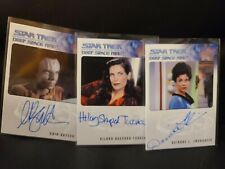 Star Trek DS9 Heroes & Villains Autograph Card set of 3
