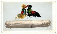 1905 The Fight, Cockfighting Postcard