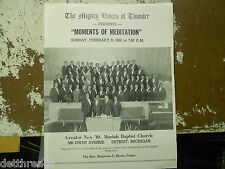 MOMENTS OF MEDITATION PROGRAM - Feb. 9, 1969 - New Mt. Moriah Baptist Church