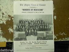 MOMENTS OF MEDITATION PROGRAM - Feb. 9, 1969 - New Mt. Moriah Baptist Church
