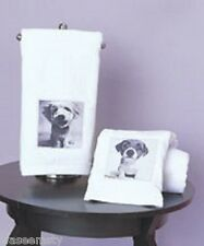 Black White Puppy Baby Dog Pet Collage Bath Hand Towel Set Keith Kimberlin Decor