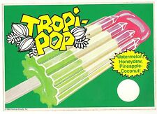 1984 Tropi-Pop, Large Collectible Ice Cream Truck Decal/Sticker,Vroman Foods,