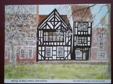 POSTCARD SHROPSHIRE SHREWSBURY - ST MARY'S PLACE IN SPRING