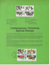 20c CHILDREN PLAYING CHRISTMAS 1982 SOUVENIR PAGE SCOTT # 2030a SP600 FDC