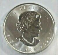 2020 Canada 1 oz Silver Maple Leaf $5 Coin .9999 Fine Silver BU