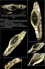 Decorativo OSCO Damenuhr-Edelstahl con Zirconia Placcato Oro 4059 Ovale 17mm