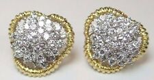 Antique Retro Vintage Diamond Earrings 18K Yellow EGL USA 3.50 CT Fine Jewelry