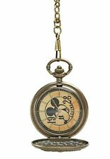 Disney Mickey Mouse 90th Anniversary Commemorative Pocket Watch Modern new