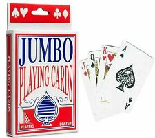 Jumbo Playing Cards Deck Extra Large Cards Playing Cards Pack of 52 New