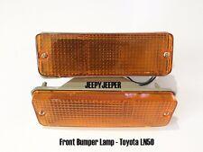 Amber Bumper Bar Indicator Light Lamp TOYOTA HILUX LN50 LN56 LN60 Pickup 83-88
