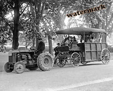Historical Photograph of Fordson Farm Tractor Pulling Tom Mix's Horse 1925  8x10