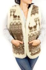 Sheepskin Coat Shearling Winter Vest Jacket Sleeveless Warm Sheep Natural Wool