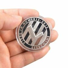 Silver Plated Physical Commemorative Litecoin Collectible Golden Iron Miner Coin