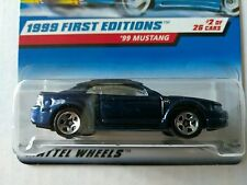RARE HOT WHEELS 1999 FIRST EDITION 1999 FORD MUSTANG BLUE EXTERIOR VARIATION