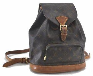 Authentic Louis Vuitton Monogram Montsouris MM Backpack M51136 LV C0210