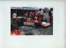 Arturo Merzario ISO Williams British Grand Prix 1974 firmato fotografia 2