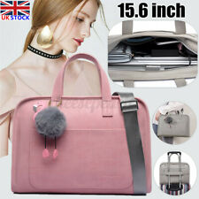 UK Women Ladies Briefcase Leather Shoulder Bag Fit 15.6'' Laptop Handbag Tote