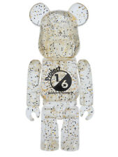 MEDICOM TOY Project 1/6 Jelly Bean 100% BE@RBRICK 2016 Gold sparkles Clear Body