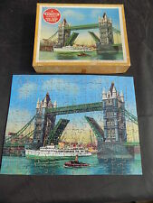 VICTORY WOODEN JIG SAW TOWER BRIDGE COMPLETE