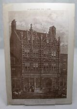 SHOPS HIGH STREET BROMLEY Antique Victorian Kent Architecture Plate 1888*